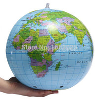 Wholesale PVC Globe Map Inflate Inflatable Earth World Teacher Beach Ball Geography Detailed Illustration Teaching Aid Toy order lt no track