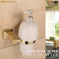 antique soap dispenser - All copper square section ceramic soap dispenser Classic European antique copper plated zirconium gold hand sanitizer soap dispenser holder