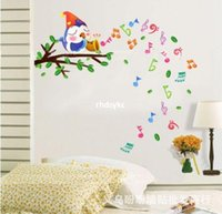 art sing - Wall stickers home decoration The new children s room wall stickers removable wall stickers cartoon sticker love singing birds DM57