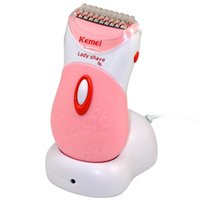 Wholesale Kemei Electric Epilator lady Epilator underarm shaver hair removal device rechargeable whole body wash remover shaver