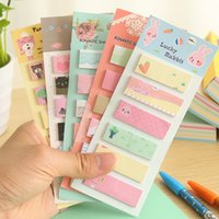 Wholesale C03 Korea Stationery fresh and lovely cartoon sticky N times paste paper notes Scratch Pad