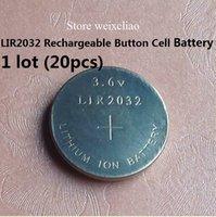 cr2032 button battery - LIR2032 V rechargeable button cell battery replace CR2032 button cell battery