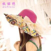 Wholesale Taobao explosion models collapsible cycling summer Miss Han Ban sun hat sun hat beach hat sun hat a002