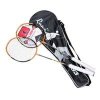 Wholesale 2Pcs Pair Badminton Racket Racquet with Carry Bag Lightweight Sport Equipment Badminton Rackets Ball Sport Training Equipment
