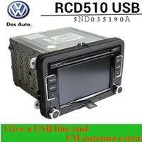 Wholesale VW Original RCD510 Car Radio USB Volkswagen RCD car cd player give a USB line and FM antenna extra VW Golf Jetta MK5 Passat
