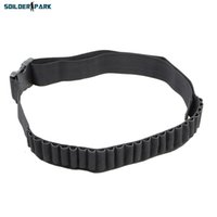 airsoft ammo - New Arrival Tactical Military Round Shell Bullet Ammo Carrier Waist Belt Airsoft Hunting D Nylon Shotgun Bandolier Sling order lt no t