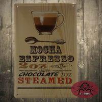 arts humor - Tin signs Mocha Espresso Metal Decor Wall Art Vintage Shop Kitchen Store Humor Trees