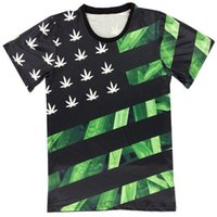 asia flags - Mikeal Men cartoon t shirt funny print Poker K and A weeds flag creative d tshirt slim Asia size M XXL