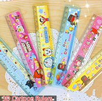 Wholesale Free Ship D Cartoon cm Cartoon Ruler bookmarks School Student Ruler Creative Gift Lovely Ruler Stationery Rulers