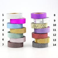 Wholesale NEW X mm Gold Glitter Sticky Washi Tape Craft Scrapbook DIY Sticker Decorative Masking Japanese Washi Tape Paper m