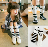 adorable black baby - Adorable Panda Striped Animals Printing Stripe Baby Boy Girl Leg Warmers Stocking Boys Girls Children Socks Black White D5131