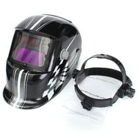 auto race tracks - Solar Auto Darkening Welding Helmet Welding mask Black Racing Track Welder Electrowelding Mask MAC_10L