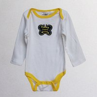 Wholesale 2015 New babies clothes baby rompers outfits baby one piece pajamas long sleeved bodysuits baby