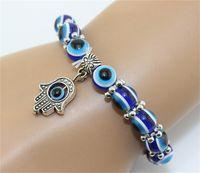 2,015 Turquie Mal Eye Bracelet Résines Perles pendentif Shamballa bracelet en perles Kabbale main brin bracelet élastique charme bijoux cadeaux de Noël