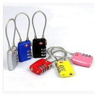 Wholesale TSA Luggage Strap Locks Digit Plastic Alloy Lock Password Customs Luggage Padlock Combination Suitcase Padlock Luggage Travel Lock m0937