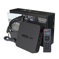 android solutions - 12pcs Original MXQ K android TV BOX RK3229 High cost performance K OTT Box solution G G WIFI KODI Dolby DTS H H VP8 MVC P