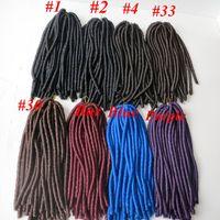 kanekalon hair - 100 Kanekalon Soft Dread locks Synthetic braiding hair Crochet Twist Braids inch g Hair Extensions More colors