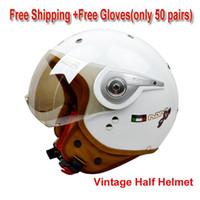 Wholesale 2015 New Beon Motorcycle Open Face Helmet Men Vintage Halley Helmet With Visor Classic Motorcycle Jet Pilot Helmet ECE