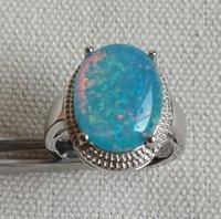 blue stone ring - Nice Blue White Fire Opal Rings For Men