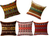 Wholesale 2015 New Fashion Hot Sale Home Decorative Geometry Cotton Linen Sofa Car Cushion Cover Throw Pillow Case