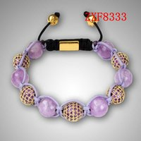 Wholesale 2016 Nialaya New party Birthday gift Bracelet Shamballa crystal stone tresor Diamonds ball alloy Silver Plated women is bracelet ZXF8333