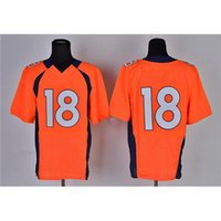 wholesale sports jerseys - 2015 Orange Football Jerseys American Football Apparels Team New Jersey Elite On Field Stitched Jerseys Mens Outdoor Sports Shirts