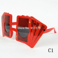 poker sunglasses - Joker Poker Shape Style Special Sunglasses Props For Party