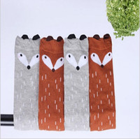 animal protectors - 2016 new fox Designer Children socks Baby Leg Warmers Soft Cotton Baby Socks Boys Girls Knee Legging Protectors Years BS001