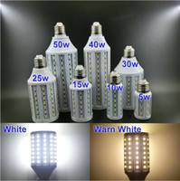 Wholesale E27 LED Corn Light Bulb Lamp AC220V V W W W W W W W white warm white