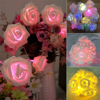 Wholesale New Arrivals LED Rose Decorative Flowers Fairy String Lighting Lamps Home Party Decor CX363