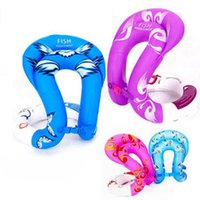 Wholesale NEW Baby Swimming Neck Ring Swim Adult Arm Floats Inflatable Circle Swim Ring Kids Swim Trainer Child Swimming Pool Buoys Toys Adult Swim