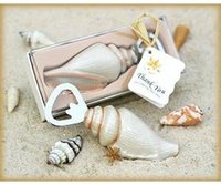 Wholesale wedding party favor gifts and giveaways for guests quot Shore Memories quot Sea Shell Bottle Opener For Beach