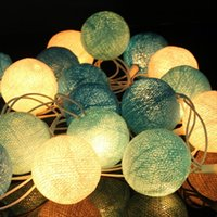 Wholesale Light Decoration For Home Prices - Best Price 20 Fabric Cotton Ball for 3M String Fairy Lights Xmas Wedding Holiday Party Home Decoration Lamp Bulb