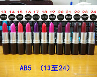 Wholesale wholesales High Quality Luster Lipsticks G Brand Makeup Long lasting Matte Lipstick Purple Pink Red Vampire Professional Party Batom