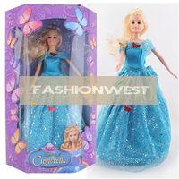Unisex 5-7 Years PVC Girl Toys Barbie Dolls Girl Toys Hot Cinderella Barbie Dolls with Light Music Fashion Kids Classic Cartoon Princess Doll Toys