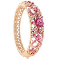 ancient china crafts - Cloisonne craft restoring ancient ways ms pink bracelet Fashion k gold crystal diamond bracelet with exquisite box