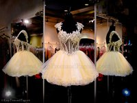Cheap Gorgeous 2015 Homecoming Dresses Corset Waist Short Prom Dress Cap Sleeves Exquisite Appliques Beading Mini Backless Cocktail Ball Gowns
