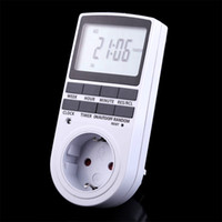 Wholesale 7 Days h Programmable Digital Timer LED Light Display Switch EU Plug