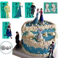 cupcake soap - Christmas Princess Elsa Anna Snowman Olaf Silicone Soap Molds Decoration Cupcake Topper Cake Tool Psate Chocolate Fondant Sugar Mould Tools