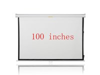Wholesale 100 inches Wall Mounted Manual Matt White HD Projection Screen