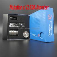 Cheap Mutation X V2 Atomizer E Electronic RDA Atomizer RBA Clearomizer Cigarette E Cigarette RDA Dual Coils Rebuildable Mutation X V2 Tank 4 Color