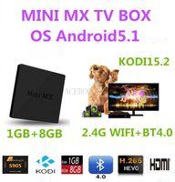Wholesale 10PCS MINI MX Original Amlogic S905 Quad Core Andorid5 TV BOX GB GB GHz WiFi K KODI15 M MINI PC