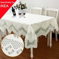 Wholesale 1pcs Tablecloth Lace Table Cloth Knitted Vintage Dining Table Cover Knitting Hollow Out Sizes Banquet Kitchen Wedding