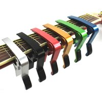 aluminum electric guitar - Single handed Electric Guitar Capos Colorful Quick Change Acoustic Guitar Capos Strength Aluminum Material Hot Sale