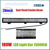 Cheap 180W 28inch Cree LED Work Light Bar Flood Spot Combo Beam for Motorcycle Tractor Boat Off Road 4WD 4x4 Truck SUV ATV IP67