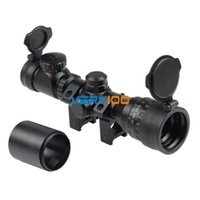 Wholesale Tactical Reflex x32 Red Green Mil dot Sight Rifle Scope Picatinny Rail Mount mm order lt no track