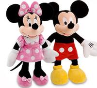 al por mayor muñecas lindas del ratón-48cm 19 '' Mickey Mouse y Minnie Mouse lindo peluche de peluche de animales Juguetes para niños regalos de Navidad Soft muñeca niños juguetes para chicas Chicos favoritos