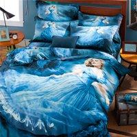 Wholesale 2015 New Cinderella D Bedding Sets for Little Girls Children room Cartoon D bedding High Quality Cotton CPB001