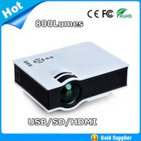 Wholesale Newest LED Mini Video LCD support P D Home Theater Projector HD Proyector Beamer Projetor
