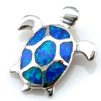 Wholesale turtle opal jewelry with cz stone fashion opal pendant turtle Pendant OP058A